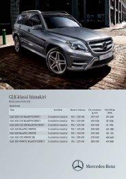 GLK-klassi hinnakiri - Silberauto