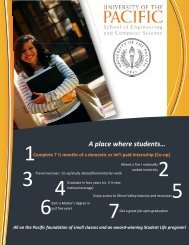 A place where students… - University of the Pacific