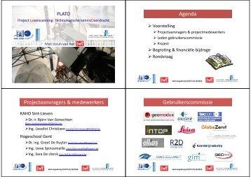 Presentatie - Project LAserscanning: Technologische ...