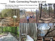 Trails - The Compact of Cape Cod Conservation Trusts