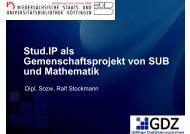 Stud.IP als Gemeinschaftsprojekt von SUB und Mathe