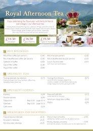 Lounge Bar Menu - Lake District Hotels