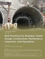 Best Practices For Roadway Tunnel Design, Construction ...