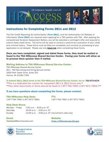 Hraccess Assessment.tsa.dhs.gov Magazines