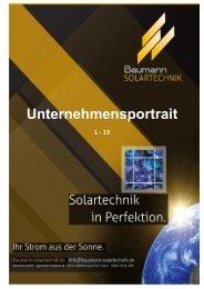 Unternehmensportrait - Baumann Solartechnik