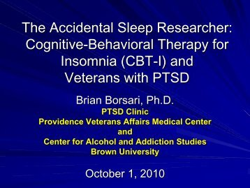 Cognitive-Behavioral Therapy for