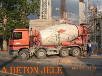 A beton jele