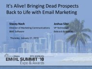 It's Alive! Bringing Dead Prospects Back to Life ... - MarketingSherpa