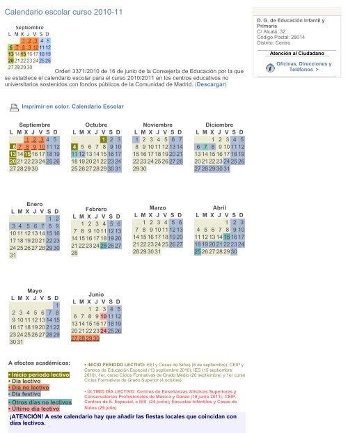 Calendario De Junio De 2010