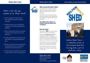 Men's Shed Brochure - Melton City Council