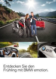 Entdecken Sie den Frühling mit BMW emotion.