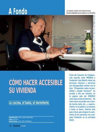A Fondo: Cómo hacer accesible su vivienda (285 Kb. pdf) - Imserso