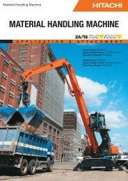 MATERIAL HANDLING MACHINE - Hitachi Construction Machinery