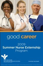 good career - Bon Secours Richmond Health System