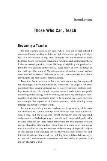 Those Who Can, Teach - Books