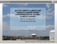 spatial urban climate and urban planning under consideration of ...
