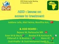 Dr. Leila Jeddane & Prof. Aziz Bousfiha - Ipopi