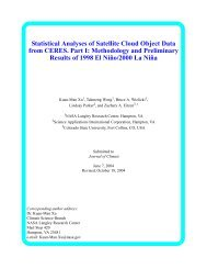 Statistical Analyses of Satellite Cloud Object Data from CERES. Part I