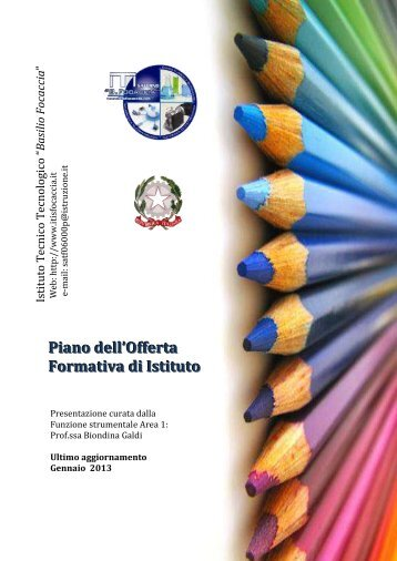Piano dell'Offerta Formativa di Istituto - Itisfocaccia.it