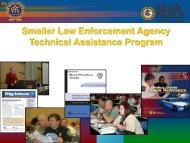 Developing a 21st Century Training Plan for Small Law Enforcement ...