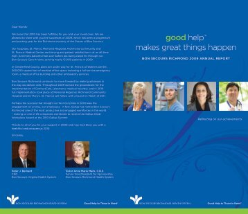 good help™ makes great things happen - Bon Secours Richmond ...