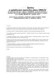 Zpráva o uplatňování územního plánu HRDLÍV - Slaný