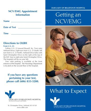 What to Expect Getting an NCV/EMG - Our Lady of Bellefonte Hospital