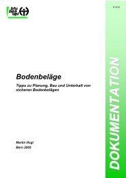 Bodenbeläge – Tipps zu Planung, Bau und Unterhalt von ... - Richner