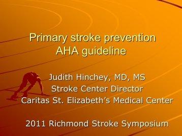 Primary stroke prevention AHA guideline - Bon Secours Richmond ...