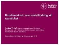 Botulinumtoxin som smärtlindring vid spasticitet