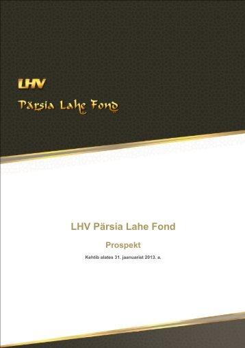 Prospekt - LHV Pank