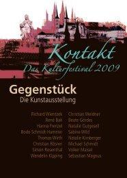 Gegenstück Kunstausstellung Bamberg 2009 - Richard Wientzek