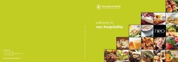hospitality brochure - University of Salford