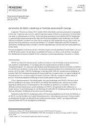 Kommentar till OECD:s skattning av framtida pensionsnivå i Sverige