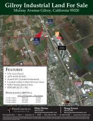 Gilroy Industrial Land For Sale - Prime Commercial, Inc