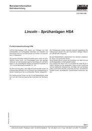Sprühanlagen HSA - Funktionsbeschreibung - Ridair/Brema