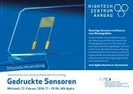 Gedruckte Sensoren - Hightech Zentrum Aargau
