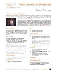 Course Program - ELIA – Ecological Living in Action