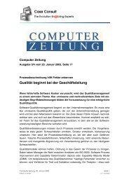 Case Consult Qualität beginnt bei der Geschäftsleitung - CC GmbH