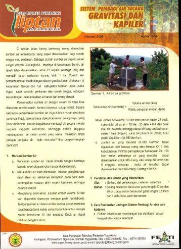 Cara pembuatan saluran Grafitasi dan Kapiler - BPTP Yogyakarta