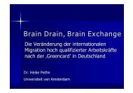 Brain Drain, Brain Exchange