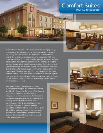 Comfort Suites Choice Hotels Franchise