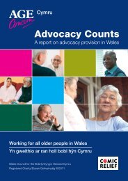 Advocacy Counts A report on advocacy provision in Wales