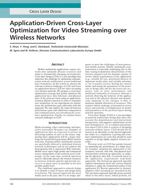 Application-Driven Cross-Layer Optimization for Video Streaming ...