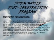 Stormwater Post Construction Program
