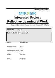 D2.1 Software architecture - Mirror