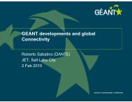 GEANT developments and global Connectivity - Géant