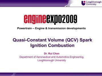 Quasi-Constant Volume (QCV) Spark Ignition Combustion - Engine Expo