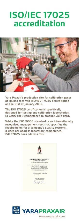 ISO/IEC 17025 accreditation - Yara Praxair