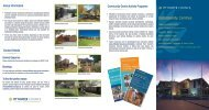 Brochure outlining Council's Community Centres - Pittwater Council